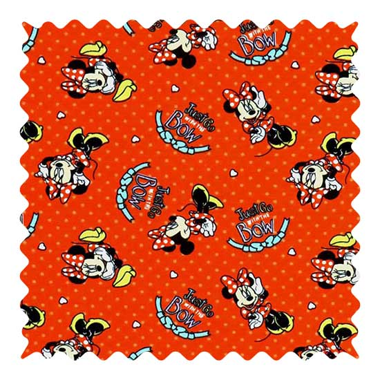 Minnie Mouse Red Fabric - 100% Cotton Jersey - 23 x 56 inches