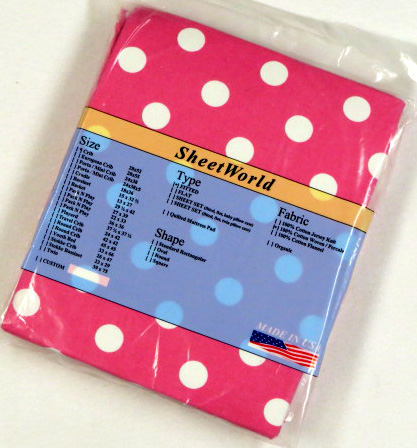 Polka Dots Hot Pink Cotton Fitted Crib Sheet 28 x 52