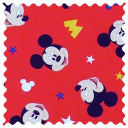 Mickey Mouse Red Fabric