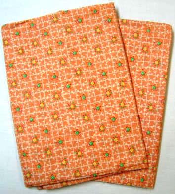 2 Pack - Orange Flower Garden Twin Pillow Case