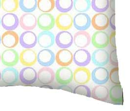 Percale Pillow Case - Pastel Colorful Rings Woven