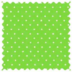 Primary Pindots Green Woven Fabric