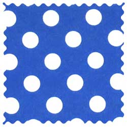 Polka Dots Royal Blue Fabric