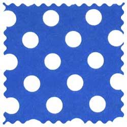 Polka Dots Royal Blue Fabric
