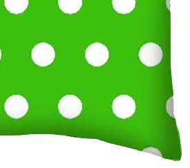Percale Pillow Case - Polka Dots Green
