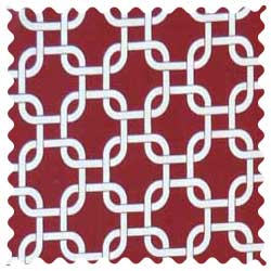Burgundy Links Fabric