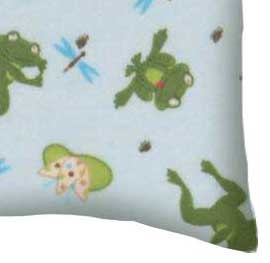 Flannel Pillow Case - Frogs n Pods