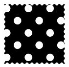 Primary Polka Dots Black Woven Fabric