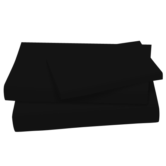 Solid Black - 100% Cotton Jersey Knit