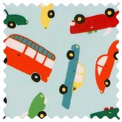 Vehicles Aqua Fabric