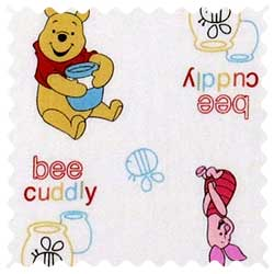 Pooh Bee Cuddly Fabric