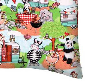 Percale Pillow Case - Animal Picnic