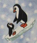 Pack N Play (Graco) - Frosty Penguins - Fitted - 100% Cotton Flannel - Baby Animal Prints Pack N Play Sheets