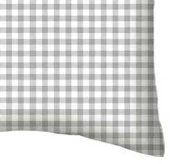 Twin Pillow Case - Grey Gingham Jersey Knit