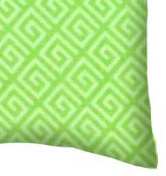 Percale Pillow Case - Geo Green