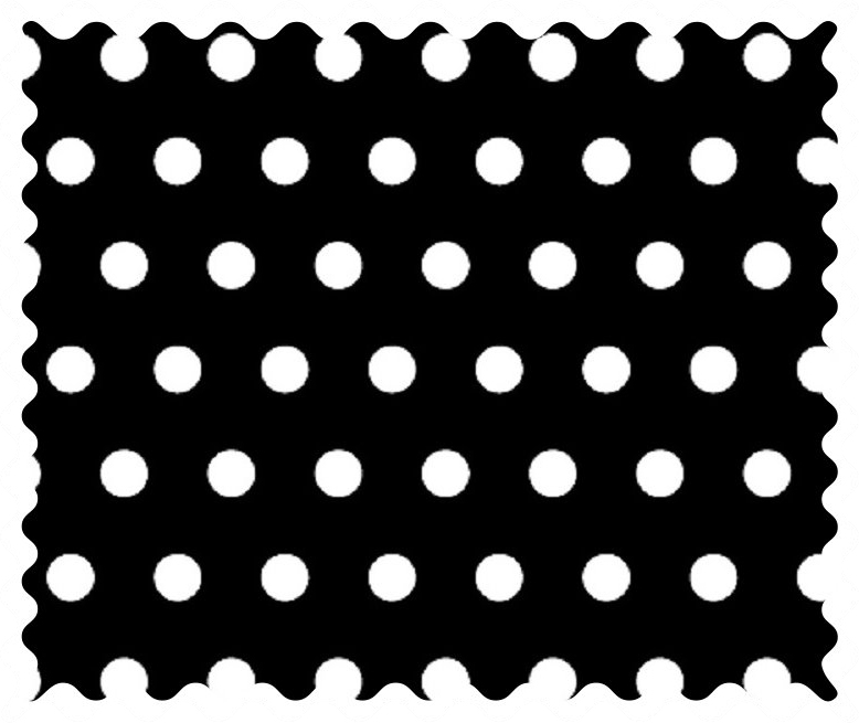 Dots Black Fabric - 100% Cotton - 32 x 42 inches