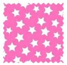 Primary Stars White On Pink Woven Fabric