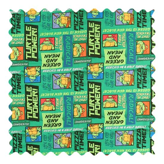 Ninja Turtles Fabric - 100% Cotton - 31 x 42 inches