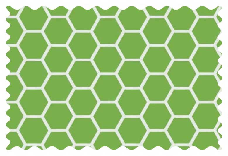 Citrus Green Honeycomb Fabric - 100% Cotton - 21 x 42 inches
