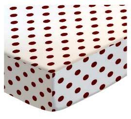 Burgundy Polka Dots