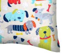 Flannel Pillow Case - Doggies