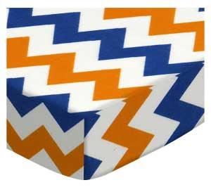 Orange & Blue Chevron