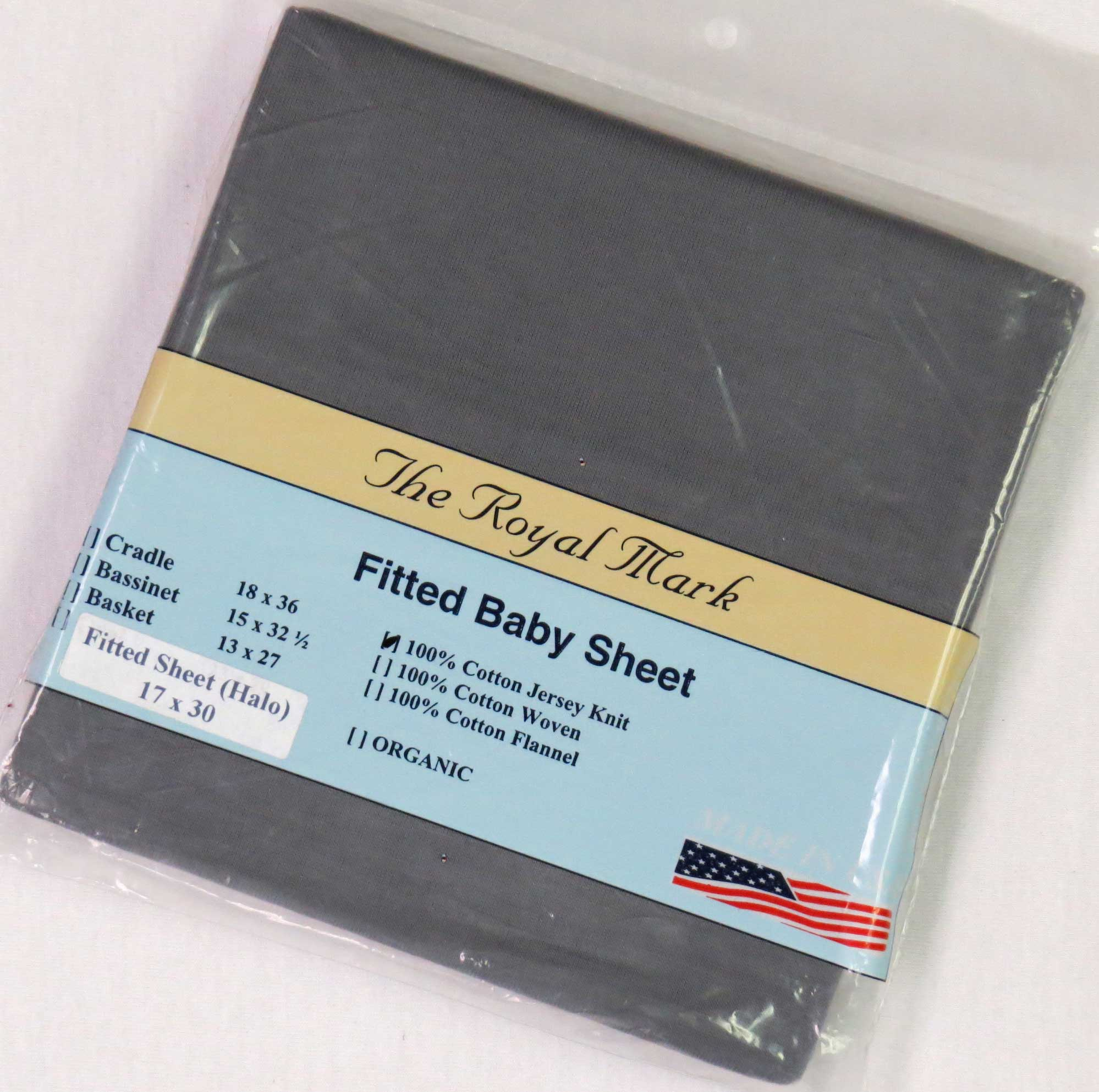 Solid Dark Grey Cotton Jersey Bassinest Sheet - Fits Halo