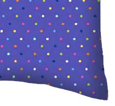 Percale Pillow Case - Primary Colorful Pindots Purple Woven