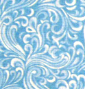 Cradle - Blue Breeze - Fitted - 100% Cotton Percale - General Prints Cradle Sheets