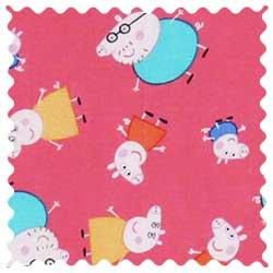 Peppa Pig Pink Fabric