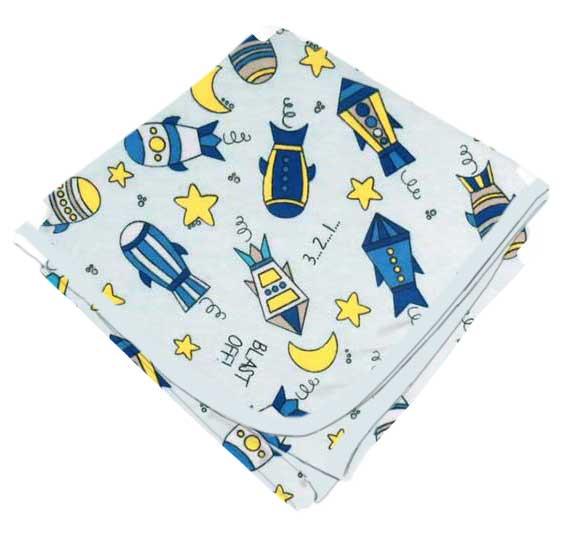 Rocket Ships Blue