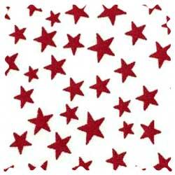 Red Stars Fabric