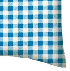 Percale Pillow Case - Turquoise Gingham Check