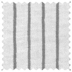 Grey Pinstripe Jersey Knit Fabric