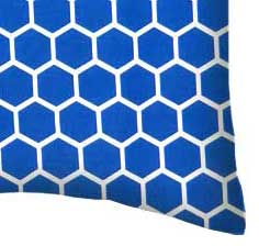 Percale Pillow Case - Royal Blue Honeycomb