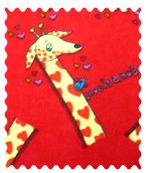 Giraffes Red Fabric