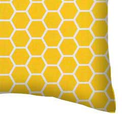 Percale Pillow Case - Lemon Honeycomb
