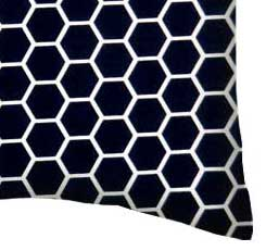 Percale Pillow Case - Navy Honeycomb