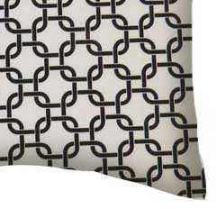 Percale Pillow Case - White Links