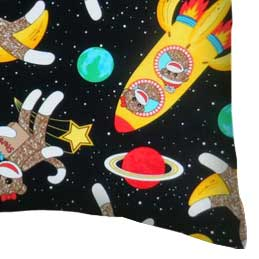 Percale Pillow Case - Space Monkeys