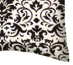 Percale Pillow Case - Black Damask