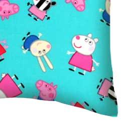 Percale Pillow Case - Peppa Pig Aqua
