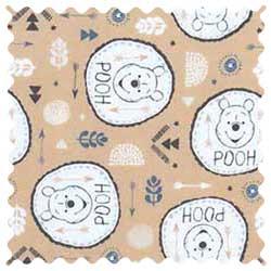 Winnie The Pooh Circles Fabric
