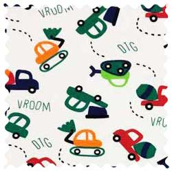 Construction Cars Fabric