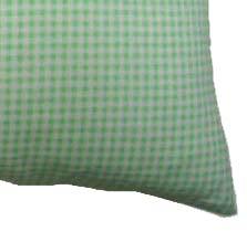 Percale Pillow Case - Green Gingham
