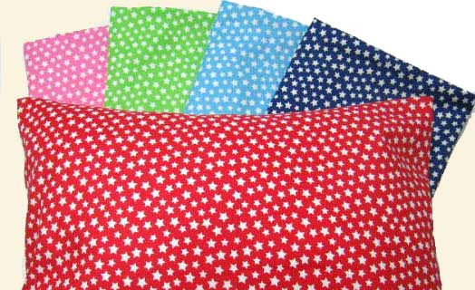 Percale Pillow Cases - Reverse Stars Collection