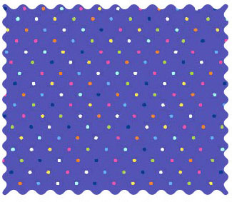 Fabric Shop - Primary Colorful Pindots Purple Woven Fabric - Yard - 100% Cotton Woven - Primary Polka Dots Fabric Shop