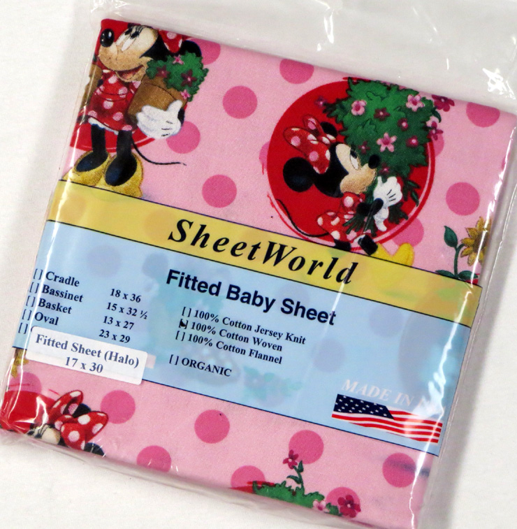 Minnie Mouse Cotton Bassinest Sheet - Fits Halo