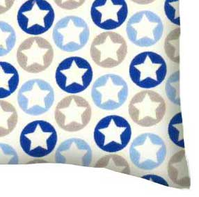 Flannel Pillow Case - Stars n Circles