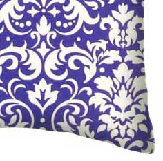 Percale Pillow Case - Purple Damask